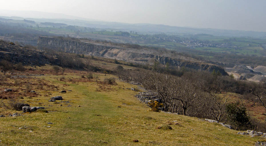 Here I Am Looking Down On Holme Park Farm With The Routes Along Lower Shelves Below Me