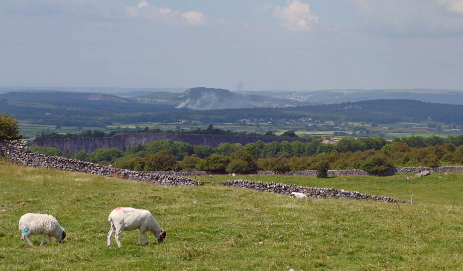Here Looking Over To Arnside Knott In Centre Picture Just Below Us The Top Of Quarry Face At Holme Park